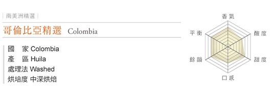 新官網大確幸 哥倫比亞精選